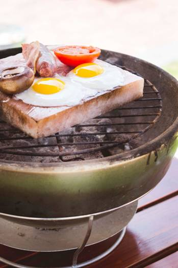 RECIPE - Breakfast on a Himalayan Salt block